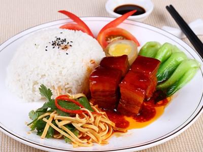 红烧肉套餐饭