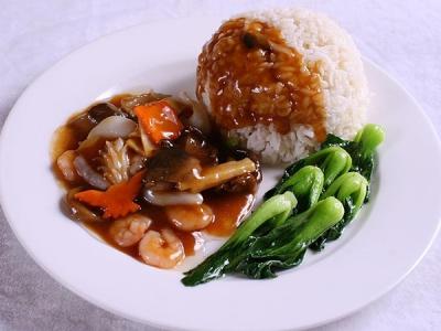 海鲜虾仁套餐饭